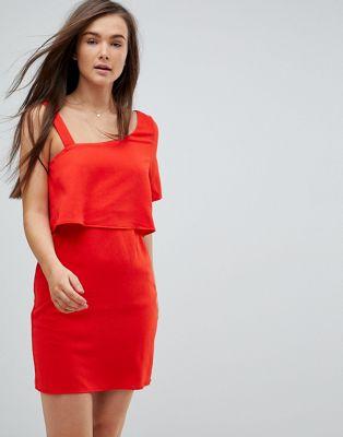 ワンピース ドレス モーダ ベロ ショルダー vero moda one shoulder dress レディースファッション