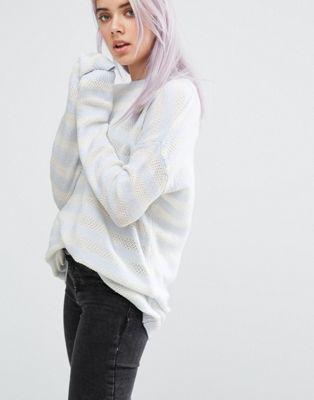 john jenn nafisa stripe jumper ジャンパー ジェン ジョン & ストライプ レディースファッション セーター ニット トップス