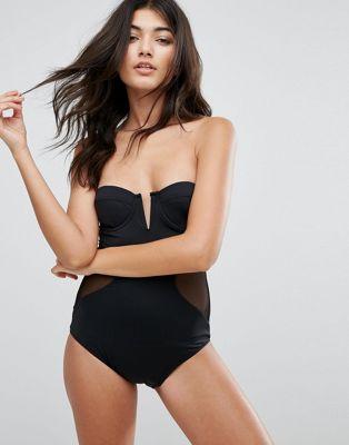 pistol ピストル panties パンティー mesh メッシュ side サイド evelyn swimsuit 水着 レディースファッション