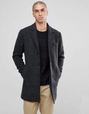 オンリー オーバーコート & ソルト ペッパー only sons salt and pepper overcoat ジャケット コート アウター メンズファッション