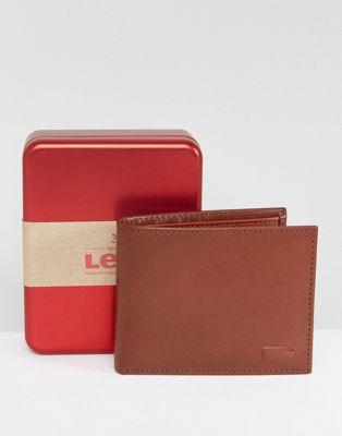 leather wallet in brown レザー 財布 ウォレット ブラウン levi's 茶 イン ケース バッグ 小物 メンズ財布 ブランド雑貨