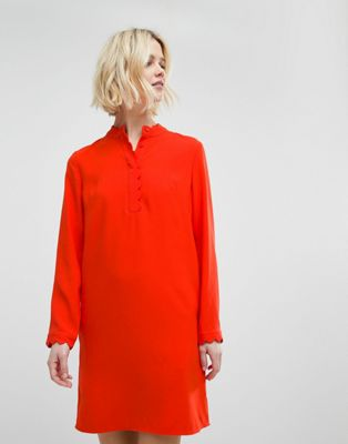 スカラップ ホイッスル ワンピース クレープ ドレス whistles scalloped collar crepe dress レディースファッション