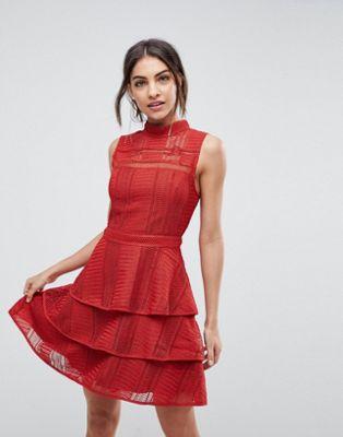 ワンピース ビアンカ レイ ドレス adelyn rae bianca tiered dress レディースファッション