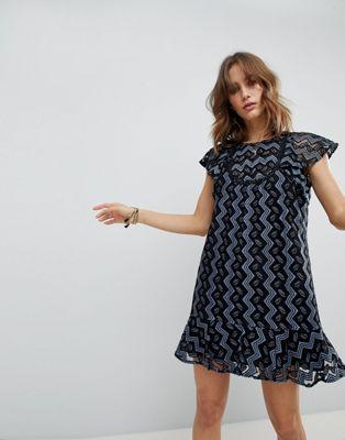 アナスイ anna sui ワンピース スイ アンナ フレアー フリル ドレス ミニ frill and flare mini dress レディースファッション