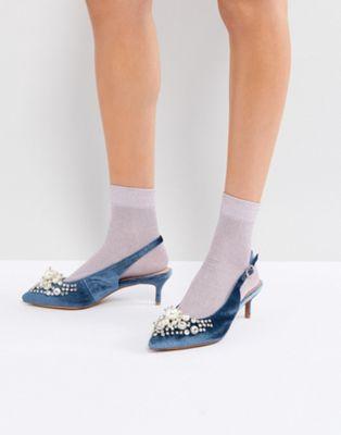 essentiel エッセンシャル antwerp pastis heeled shoes シューズ 運動靴 with pearls パール レディース靴 靴 パンプス
