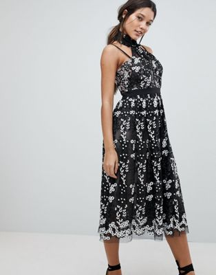 forever new floral embroidered lace dress ニュー フローラル ドレス ワンピース フォーエバー レース レディースファッション