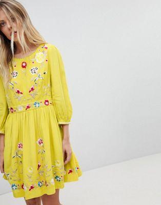 コネクション フローラル フレンチ ドレス ミニ ワンピース french connection floral embroidered mini dress レディースファッション