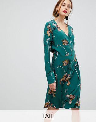 フローラル ワンピース y.a.s スケーター トール ドレス tall ditsy floral skater dress レディースファッション