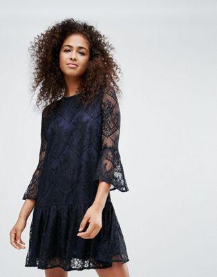 レース ドレス フリン ワンピース ganni flynn lace dress レディースファッション
