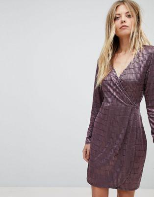 ラップ フレンチ ジャガード ディテール ワンピース コネクション ドレス french connection jacquard detail wrap dress レディースファッション