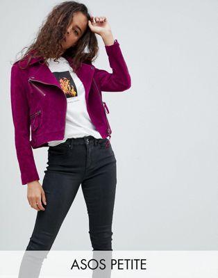 エイソス エイソスプチ asos petite ジャケット スウェード スエード 小さいサイズ バイカー suede biker jacket コート アウター レディースファッション