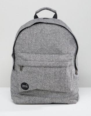 gray灰色 バッグ バックパック グレイ ヘリンボーン イン リュックサック mipac herringbone backpack in grey 小物 リュック メンズバッグ ブランド雑貨