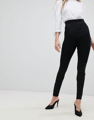 エイソス asos super スーパー high ハイ waist ウェスト 'sculpt me' premium プレミアム jeans パンツ with side サイド zip ジップ and flat フラット front フロント レディースファッション ボトムス