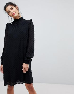 ワンピース y.a.s ドレス ネック シフォン ハイ chiffon high neck dress レディースファッション