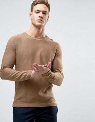 ジョーンズ ロウ ディテール ジャンパー & ジャック ヘム jack jones jumper with raw hem detail セーター メンズファッション ニット トップス