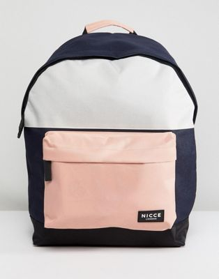 nicce london backpack with pink panels リュックサック ピンク ロンドン バックパック パネル バッグ ブランド雑貨 メンズバッグ リュック 小物