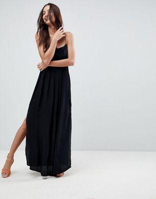 エイソス asos pleated smock maxi cami dress プリーツ ワンピース キャミ マキシ スモック ドレス レディースファッション