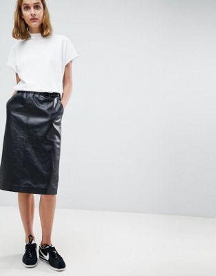 レザー コペンハーゲン モス スカート ミディ moss copenhagen leather midi skirt ドレス レディースファッション