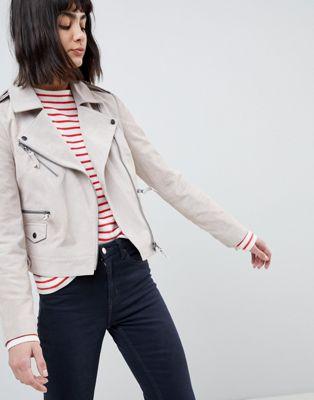 エイソス asos design suede biker jacket バイカー スエード ジャケット スウェード デザイン コート レディースファッション アウター