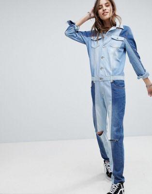 シグネイチャー ボイラー デニム スーツ signature 8 denim boiler suit サロペット レディースファッション オールインワン
