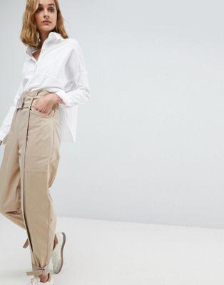 エイソス エイソスホワイト asos white ハイ 白 ウェスト ホワイト high waist coord trouser レディースベルト ベルト サスペンダー バッグ ブランド雑貨 小物
