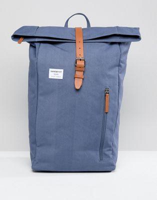 イン リュックサック ブルー バックパック ダンテ バッグ 青 sandqvist dante rolltop backpack in blue 小物 メンズバッグ ブランド雑貨 リュック