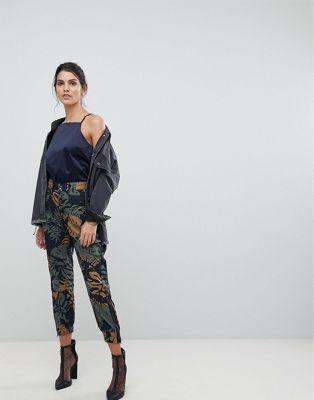 フローラル カーゴ ジースター gstar be rawtapered floral cargo trouser レディースファッション パンツ ボトムス
