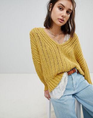 ピープル 特大 オープン フリー ニット ジャンパー free people oversized open knit jumper レディースファッション トップス セーター
