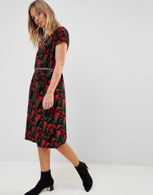 trollied dolly ドリー floral フローラル print プリント pencil ペンシル dress ドレス ワンピース レディースファッション