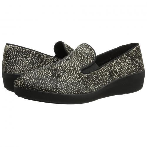 黒 ブラック ミックス ポニー SKATE レディース 女性用 カジュアルシューズ レディース靴 靴 【 BLACK FITFLOP FPOP MIX PONY 】
