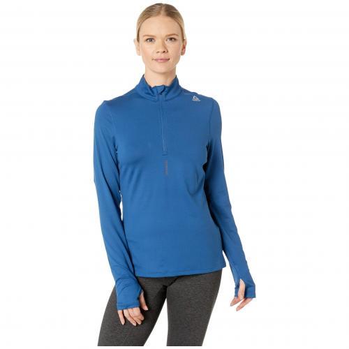 リーボック ランニング ジップ バンカー 青 ブルー レディース 女性用 スポーツ アウトドア ウェア レディースウェア マラソン ジョギング 【 BLUE REEBOK RUNNING 1 4 ZIP BUNKER 】
