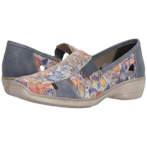 レディース 女性用 レディース靴 カジュアルシューズ 靴 【 RIEKER 41385 DORIS 85 WEISS MULTI ADRIA 】