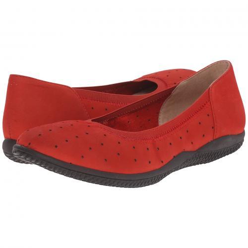 赤 レッド ヌバック レザー レディース 女性用 レディース靴 靴 カジュアルシューズ 【 SOFTWALK HAMPSHIRE RED NUBUCK LEATHER 】