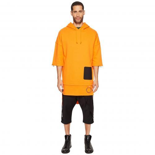 スリーブ フーディー パーカー 橙 オレンジ D.GNAK メンズ 男性用 トップス メンズファッション 【 SLEEVE ORANGE 1 2 HOODIE 】