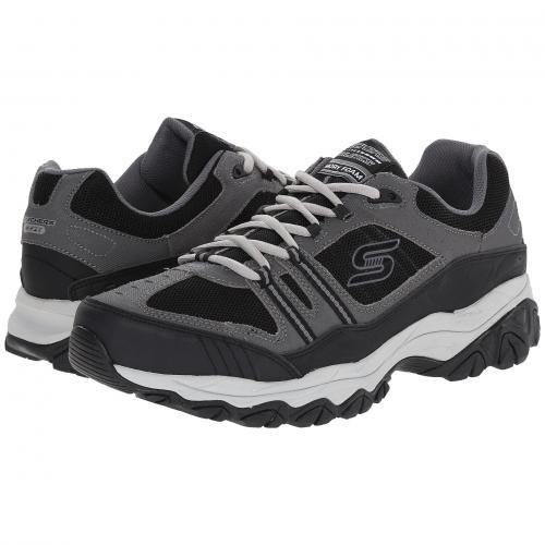 スケッチャーズ フィット ストライク オフ M. メンズ 男性用 スニーカー 靴 メンズ靴 【 SKECHERS AFTERBURN FIT STRIKE OFF CHARCOAL BLACK 】