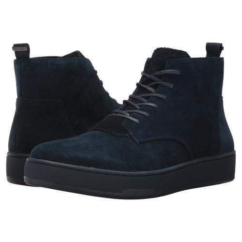 カルバン クライン ダーク 紺 ネイビー カーフ スエード スウェード メンズ 男性用 靴 メンズ靴 スニーカー 【 NAVY CALVIN KLEIN NATEL DARK CALF SUEDE 】
