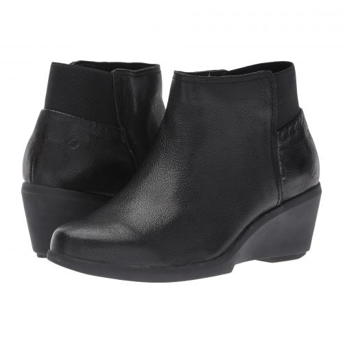 黒 ブラック レザー レディース 女性用 レディース靴 ブーツ 靴 【 BLACK HUSH PUPPIES FRANCINE MARIYA LEATHER 】