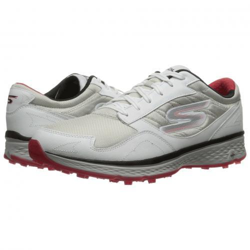 スケッチャーズ ゴー ゴルフ メンズ 男性用 メンズ靴 スニーカー 靴 【 GOLF SKECHERS GO FAIRWAY WHITE BLACK RED 】