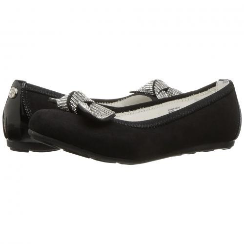 【エントリーで全商品ポイント10倍1/9 20:00-1/16 01:59迄】グリッツ 黒 ブラック 子供用 ビッグキッズ マタニティ キッズ ベビー 靴 【 BLACK STUART WEITZMAN KIDS FANNIE GLITZ 】