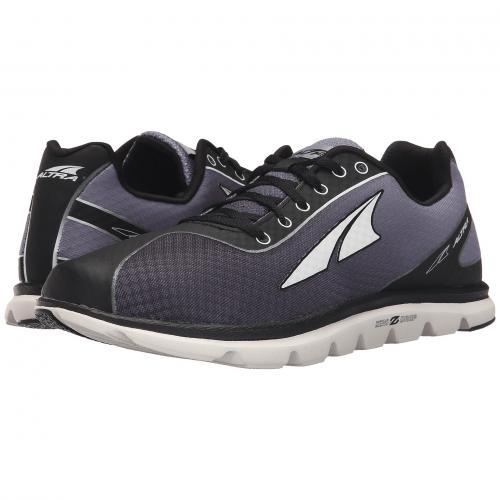 シューズ 黒 ブラック 2.5 メンズ 男性用 靴 スニーカー メンズ靴 【 BLACK ALTRA FOOTWEAR ONE 】