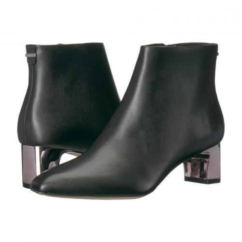 カルバン クライン 黒 ブラック カウ シルク レディース 女性用 ブーツ レディース靴 靴 【 BLACK CALVIN KLEIN MIMETTE COW SILK 】