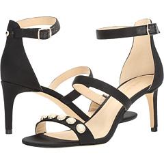 ナイン ウェスト 黒 ブラック サテン レディース 女性用 靴 レディース靴 ミュール 【 BLACK NINE WEST AUSTEN 2 SATIN 】
