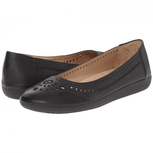 黒 ブラック レザー レディース 女性用 レディース靴 靴 カジュアルシューズ 【 BLACK NATURALIZER KANA LEATHER 】