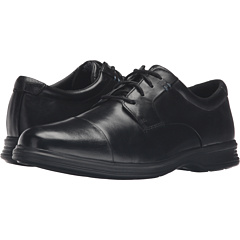 ライト キャップ 帽子 トー 黒 ブラック レザー 2+ メンズ 男性用 靴 ビジネスシューズ メンズ靴 【 BLACK ROCKPORT DRESSPORTS LIGHT CAP TOE LEATHER 】