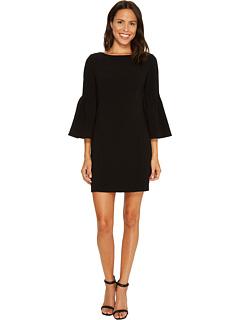 ランドリー クレープ シフト ドレス ワンピース 黒 ブラック レディース 女性用 レディースファッション 【 BLACK LAUNDRY BY SHELLI SEGAL CREPE SHIFT DRESS 】