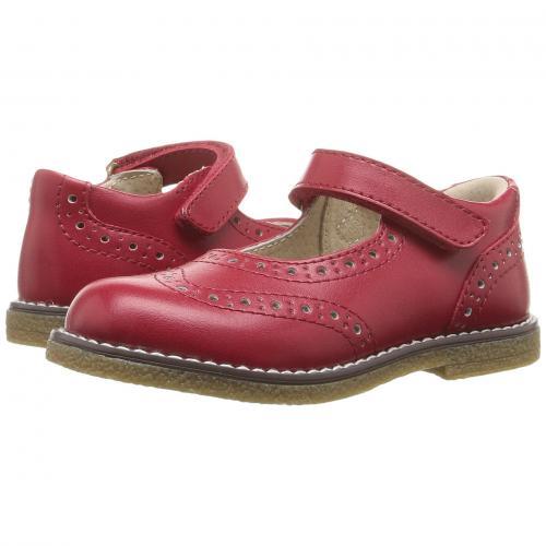 アップル 赤 レッド 子供用 リトルキッズ キッズ マタニティ ベビー 靴 【 FOOTMATES LYDIA TODDLER APPLE RED 】