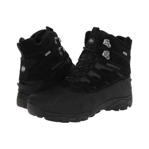 ポーラー ウォータープルーフ 防水 黒 ブラック メンズ 男性用 メンズ靴 ブーツ 靴 【 BLACK MERRELL MOAB POLAR WATERPROOF 】
