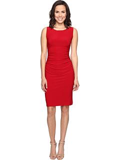 ノンスリーブ シャーリング ウェスト ドレス ワンピース 赤 レッド レディース 女性用 レディースファッション 【 SLEEVELESS KAMALIKULTURE BY NORMA KAMALI SHIRRED WAIST DRESS RED 】