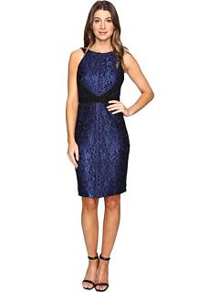 サングリア スキューバ ドレス ワンピース レディース 女性用 レディースファッション 【 SANGRIA SCUBA DRESS BLACK COBALT 】
