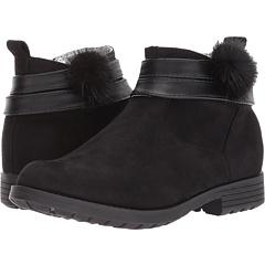 ガール 黒 ブラック 子供用 リトルキッズ ベビー キッズ 靴 ブーツ マタニティ 【 BLACK KENSIE GIRL KIDS POM BOOTIE 】